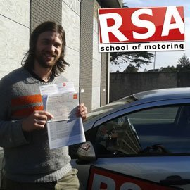 Paul passes his test