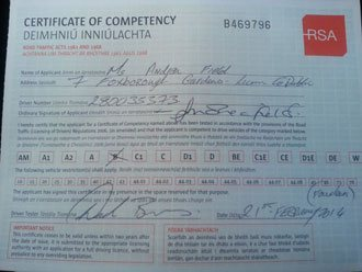 Lucys certificate of competency