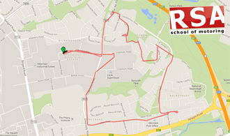 Keiths Tallaght Test Route